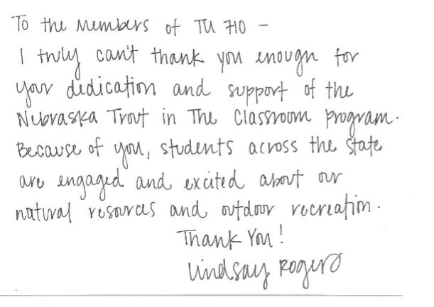 lindsy rojers letter